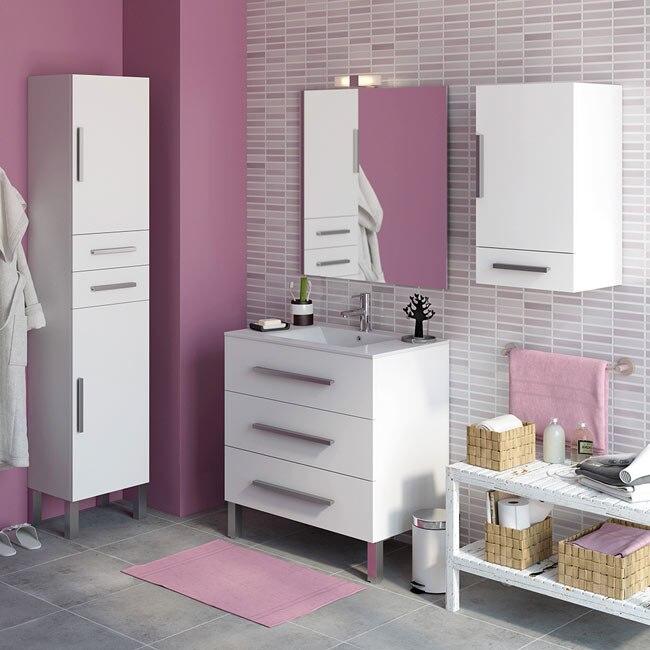 Mueble de lavabo madrid ref 18105444 leroy merlin - Azulejos leroy merlin banos ...