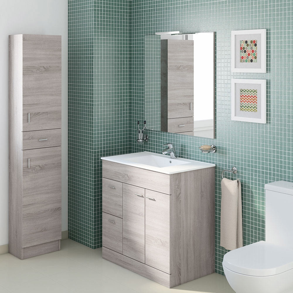 Mueble de lavabo motril ref 18054596 leroy merlin for Lavabo leroy merlin