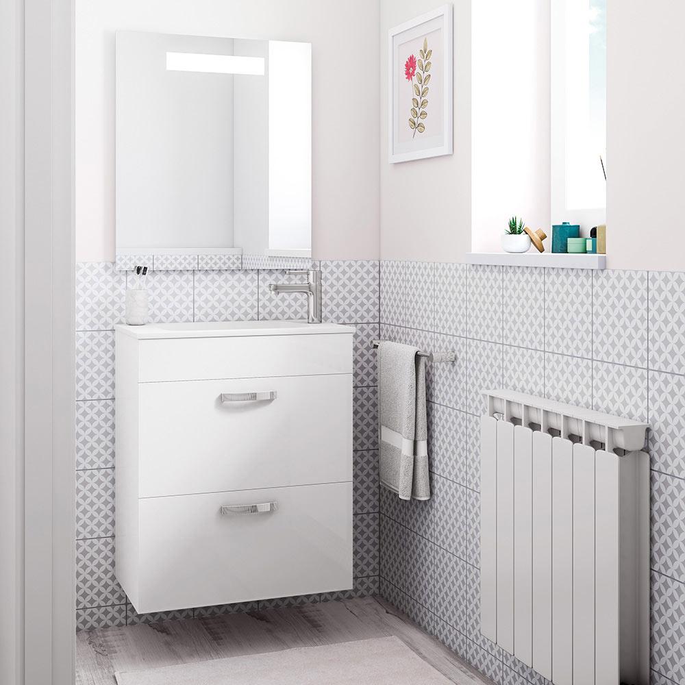 Conjunto de mueble de lavabo roca nadi ref 19144125 for Leroy merlin armario lavabo