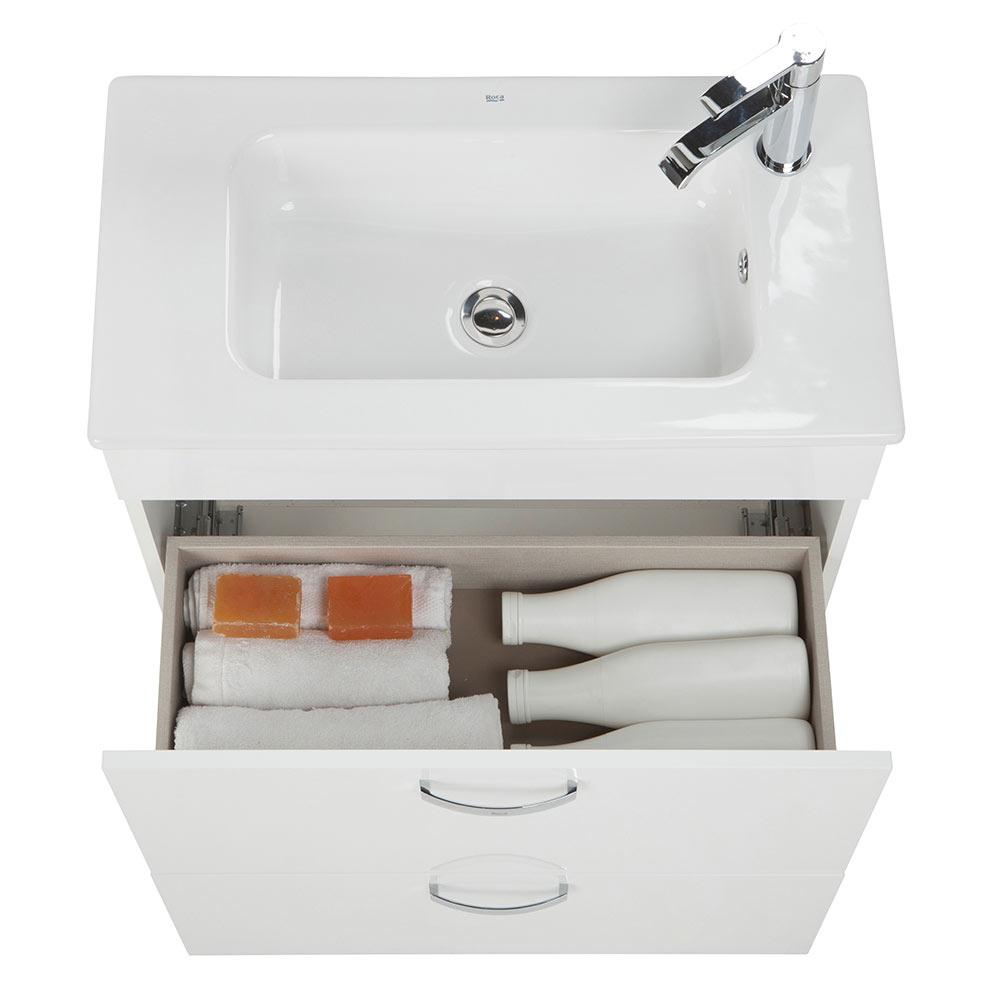 Conjunto de mueble de lavabo roca nadi ref 19144125 - Mueble de lavabo ...