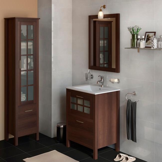 Mueble de lavabo nizza ref 17308690 leroy merlin for Mueble microondas leroy merlin