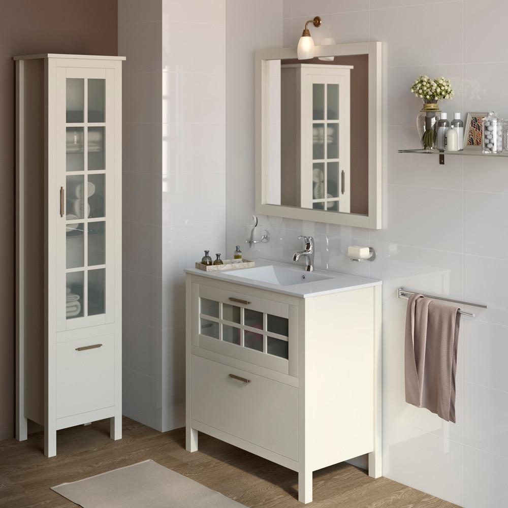 Mueble de lavabo nizza ref 17308704 leroy merlin - Puertas de bano leroy merlin ...