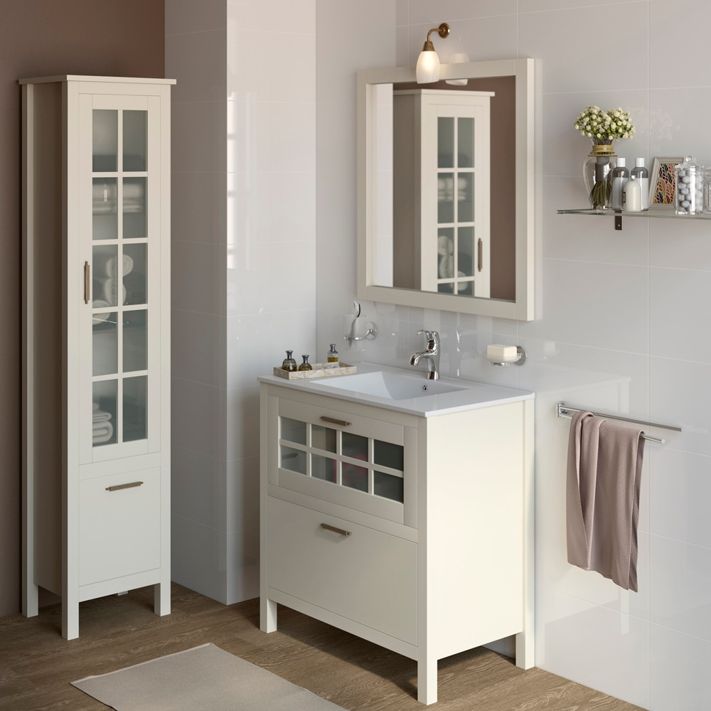 Mueble de lavabo nizza ref 17308704 leroy merlin for Lavabo pequeno leroy merlin