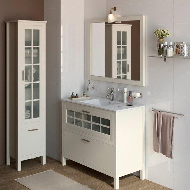 Mueble de lavabo nizza ref 17308746 leroy merlin for Muebles de bano pequenos leroy merlin
