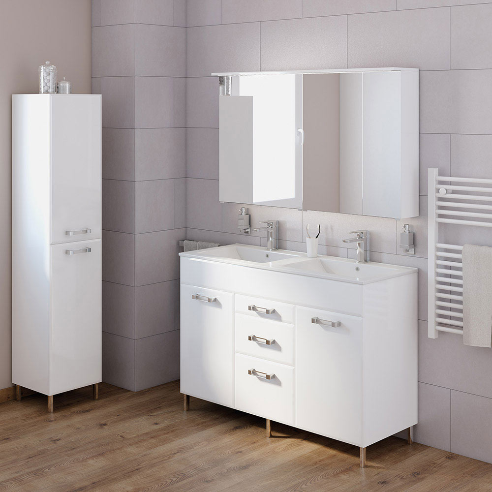 Mueble de lavabo opale ref 17806845 leroy merlin for Lavabo leroy merlin