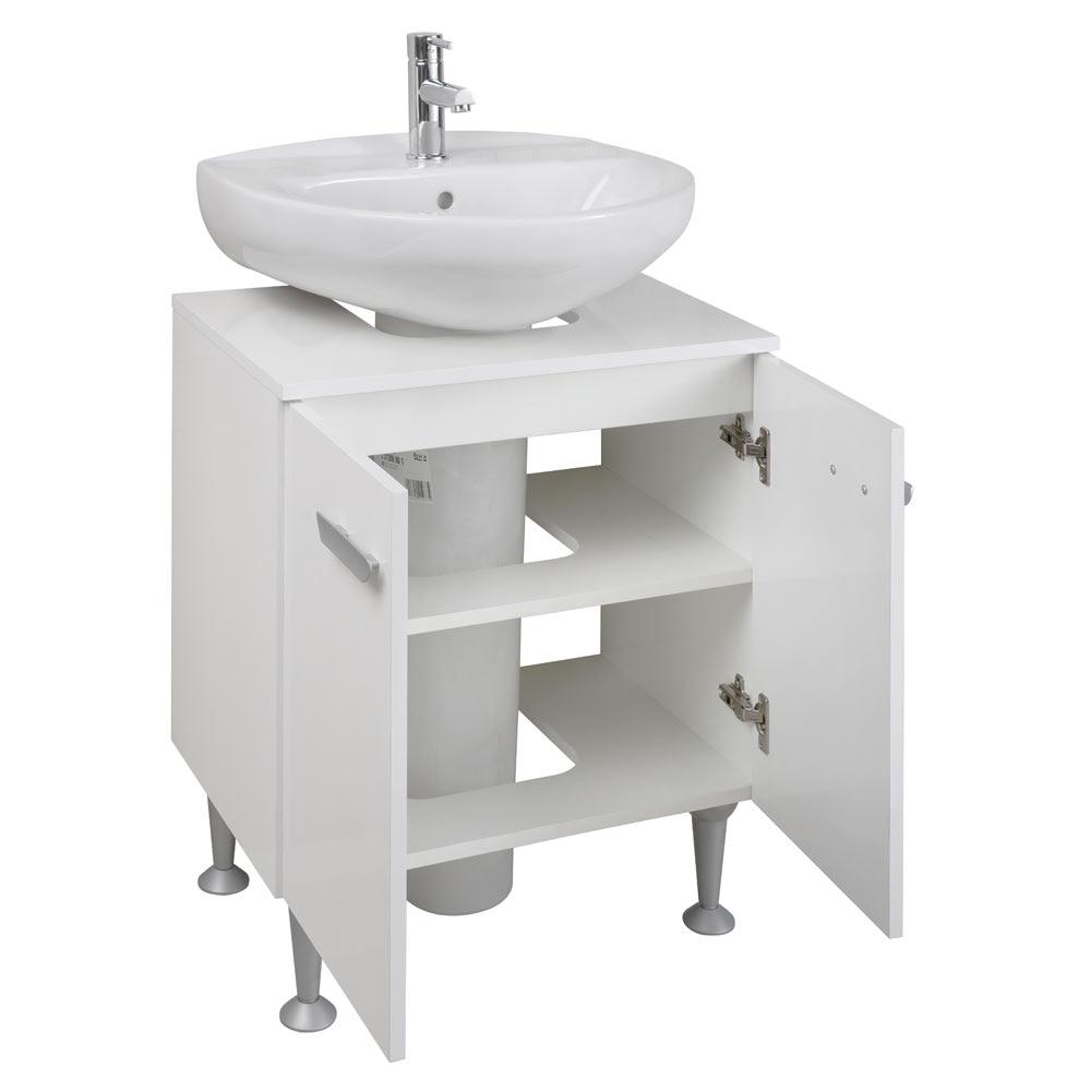 Mueble de lavabo pedestal kit ref 81868600 leroy merlin for Mueble lavabo pedestal ikea