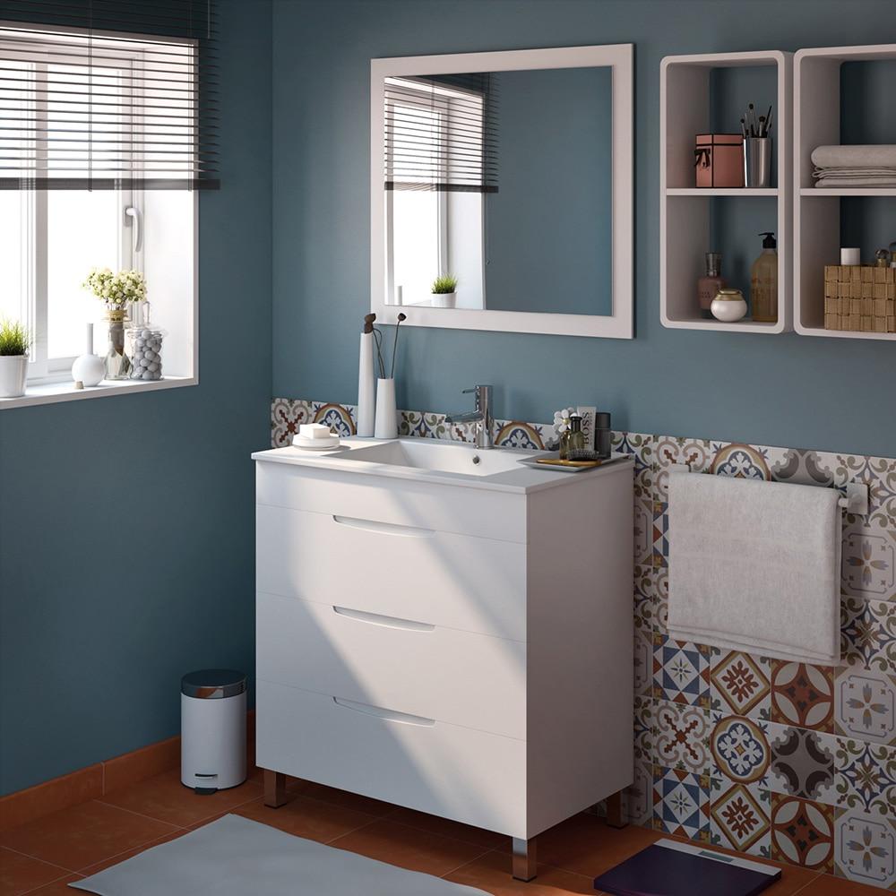Mueble de lavabo quadro ref 17124625 leroy merlin for Lavabos leroy merlin