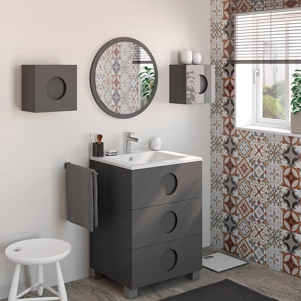 Mueble de lavabo sphere ref 16700712 leroy merlin for Mueble lavabo 50 ancho