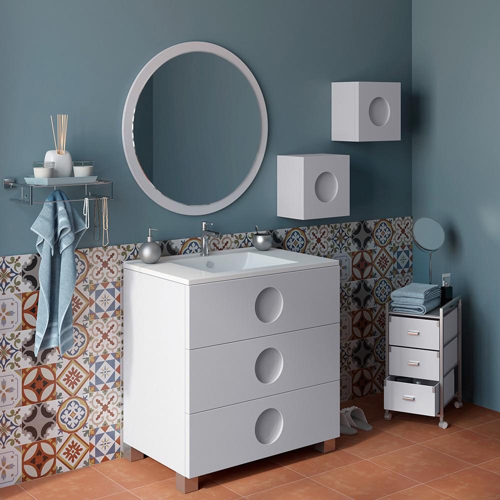 Mueble de lavabo sphere ref 16701412 leroy merlin for Lavabo pequeno leroy merlin