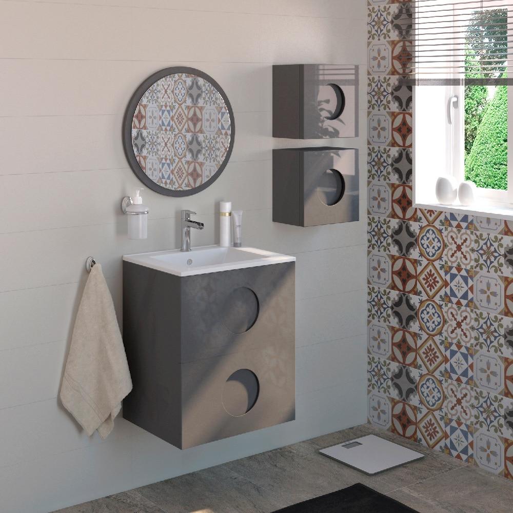 Mueble de lavabo sphere ref 17595256 leroy merlin for Mueble lavadora leroy merlin