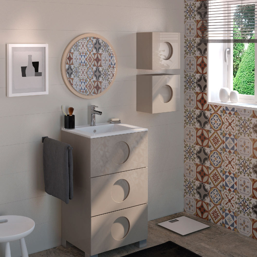Mueble de lavabo sphere ref 17618986 leroy merlin for Lavabo pequeno leroy merlin