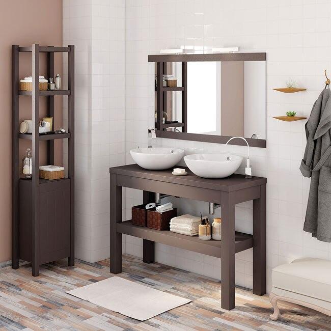 Mueble de lavabo stone ref 17966403 leroy merlin for Lavabos sobre encimera leroy merlin