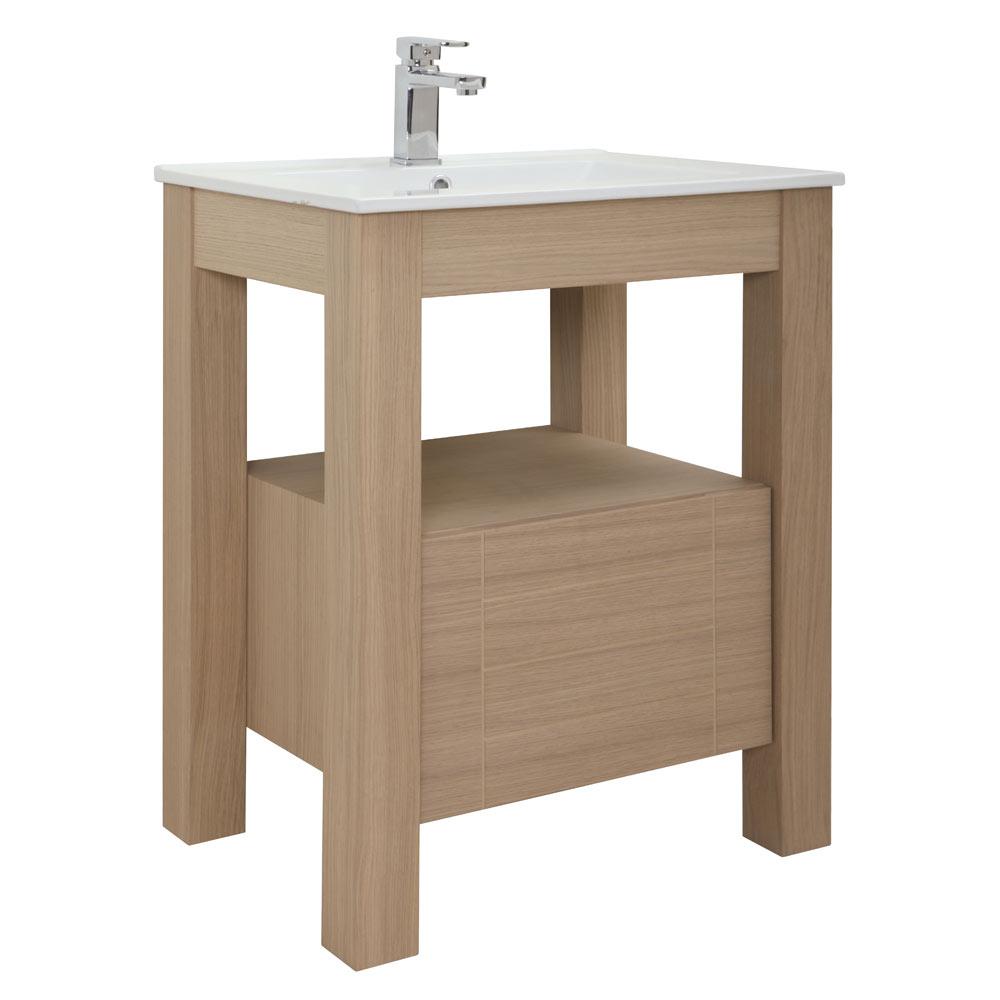 Mueble de lavabo stone ref 17966515 leroy merlin for Mueble fregadero leroy merlin
