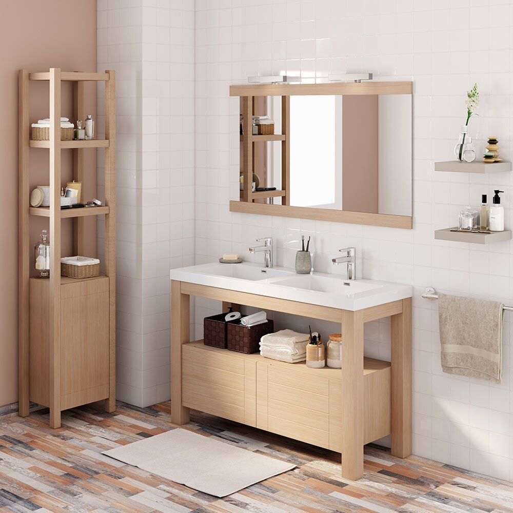 Mueble de lavabo stone ref 17966536 leroy merlin for Lavabo leroy merlin