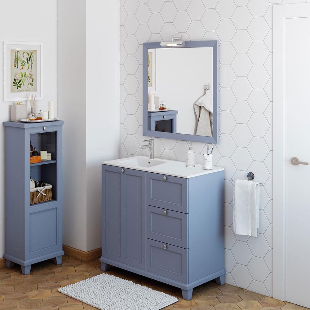 Mueble de lavabo unike ref 18568900 leroy merlin for Muebles de bano estilo vintage