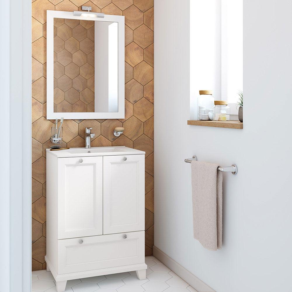 Mueble de lavabo unike ref 18568935 leroy merlin - Muebles para lavabo con pedestal ...
