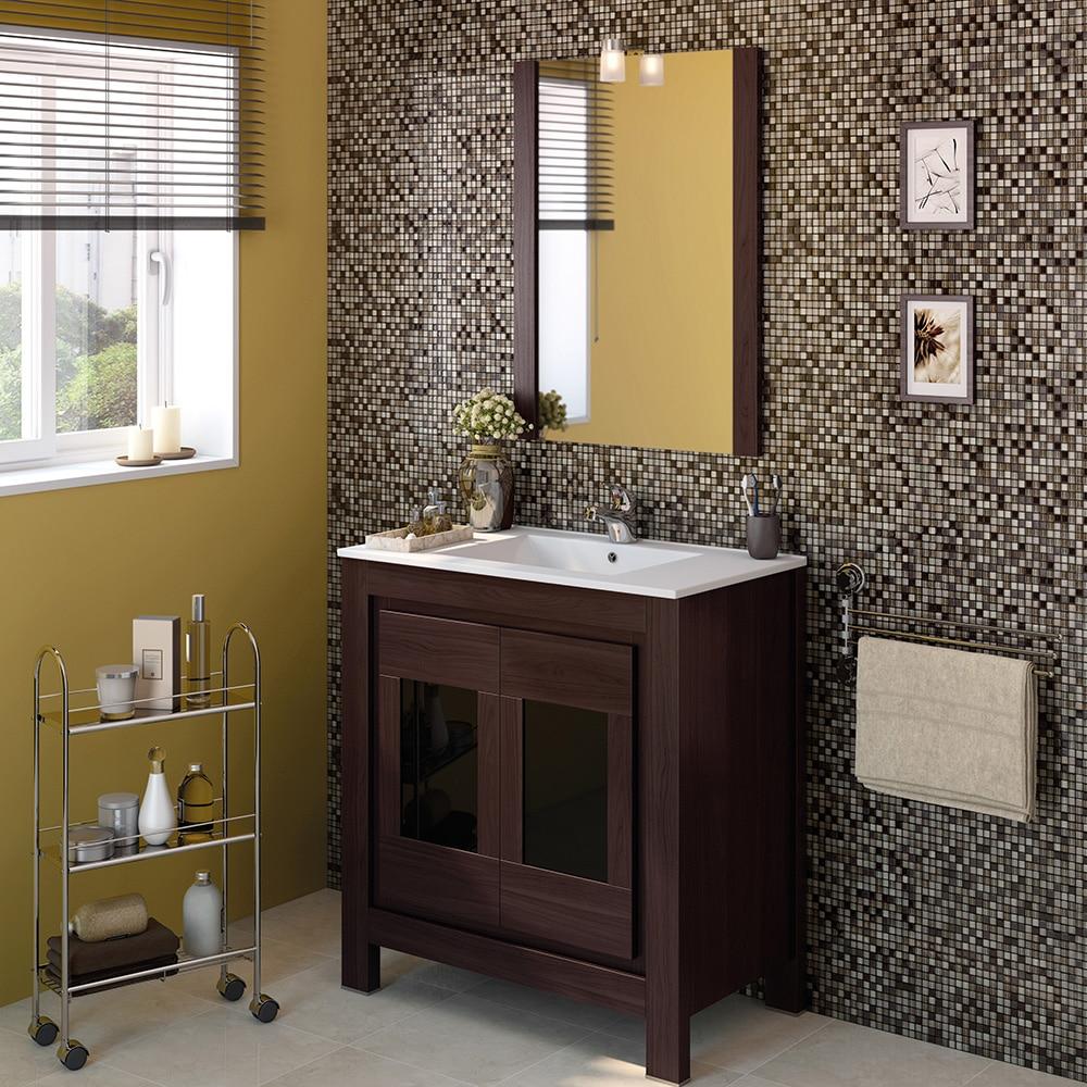Mueble de lavabo versalles ref 16716385 leroy merlin for Mueble lavabo