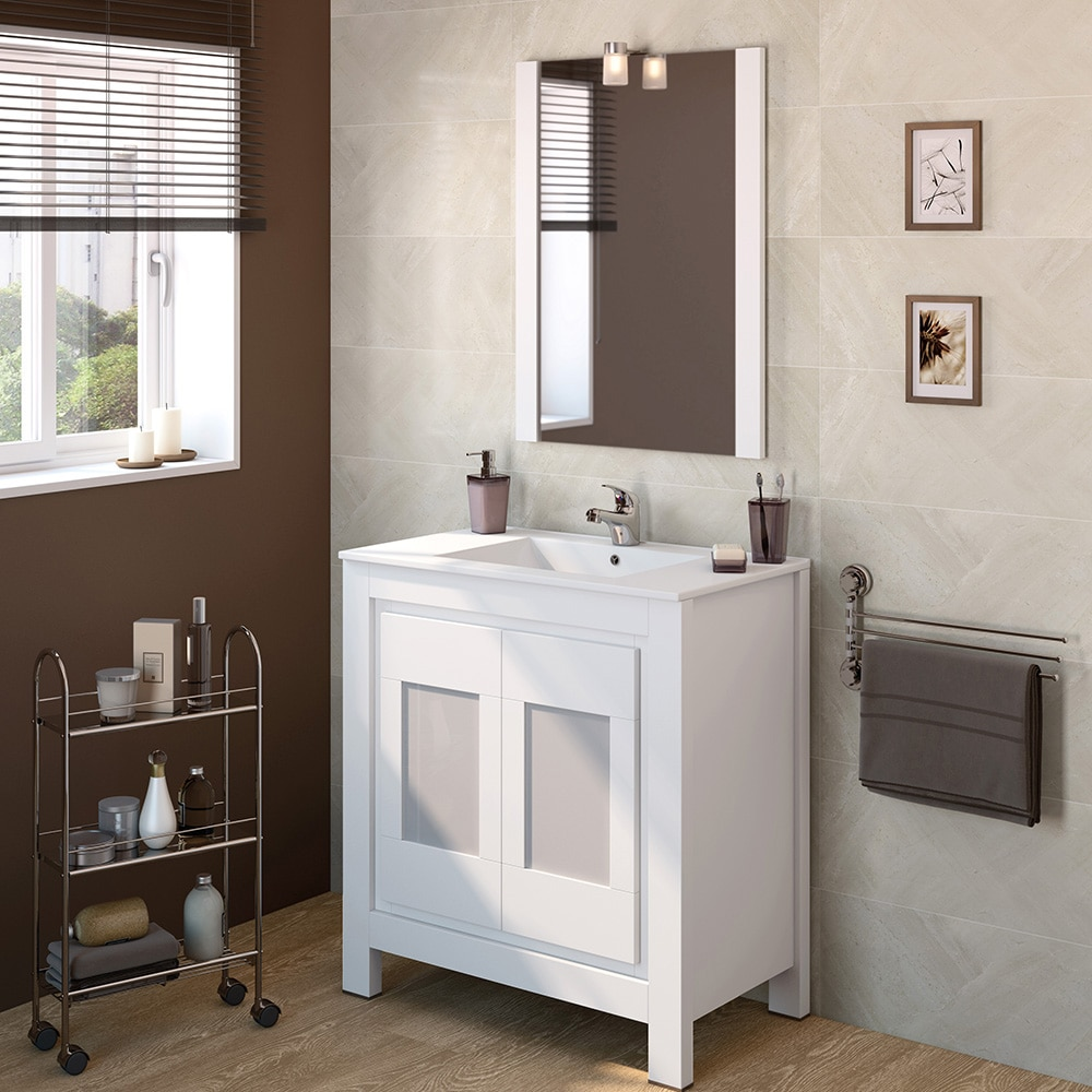 Mueble de lavabo versalles ref 16716553 leroy merlin for Mueble auxiliar lavabo