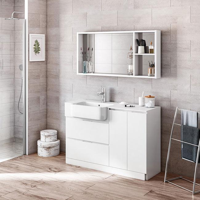 Mueble de lavabo zenia ref 19412295 leroy merlin - Mueble microondas leroy merlin ...