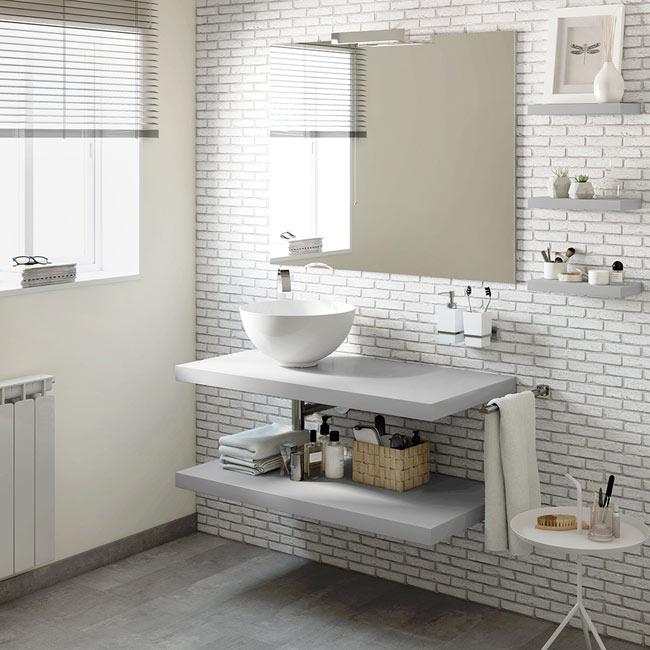 Mueble de lavabo onix ref 17886043 leroy merlin for Lavabos leroy merlin