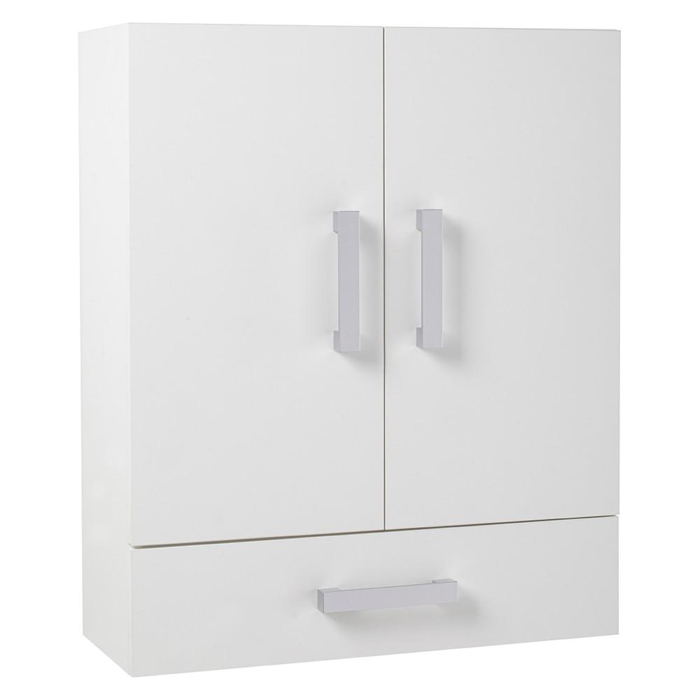 Mueble auxiliar de ba o serie capacity de colgar 2 puertas for Muebles auxiliares de bano conforama