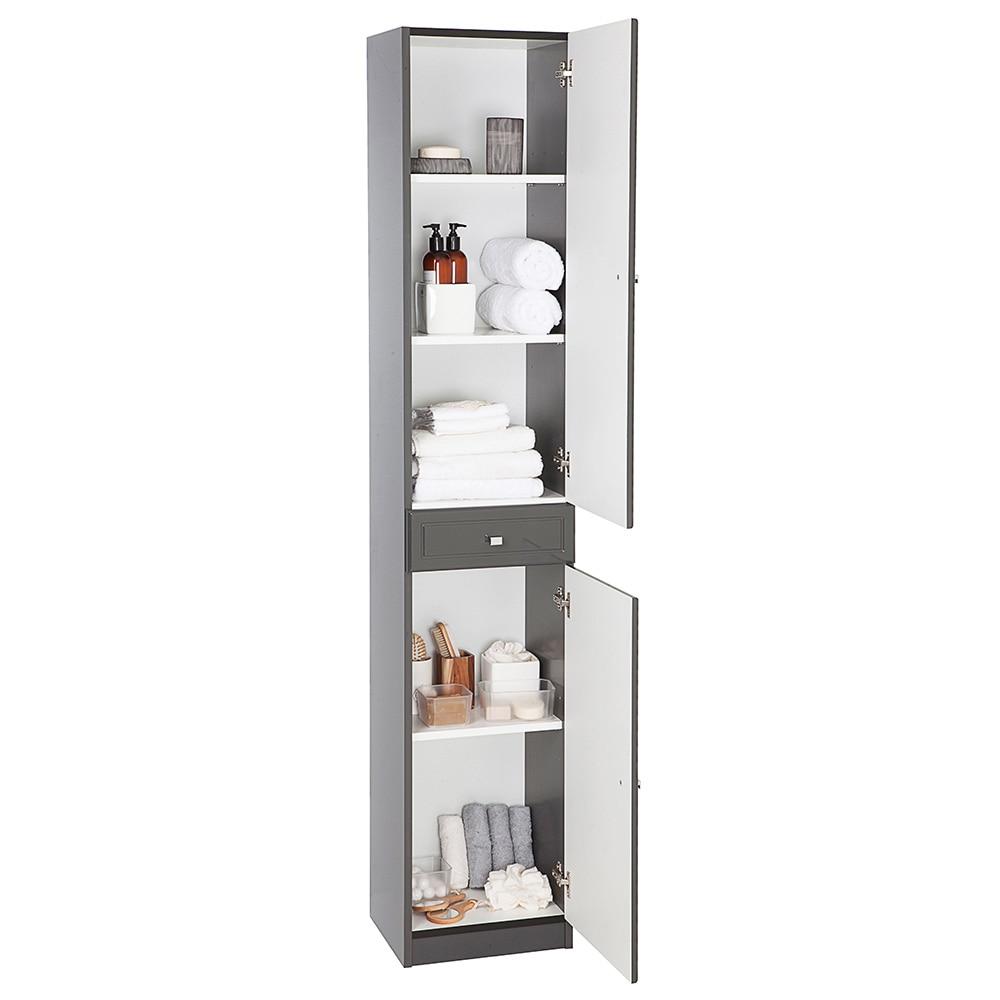 Mueble auxiliar de ba o serie galice columna ref 16729363 - Mueble columna de bano ...