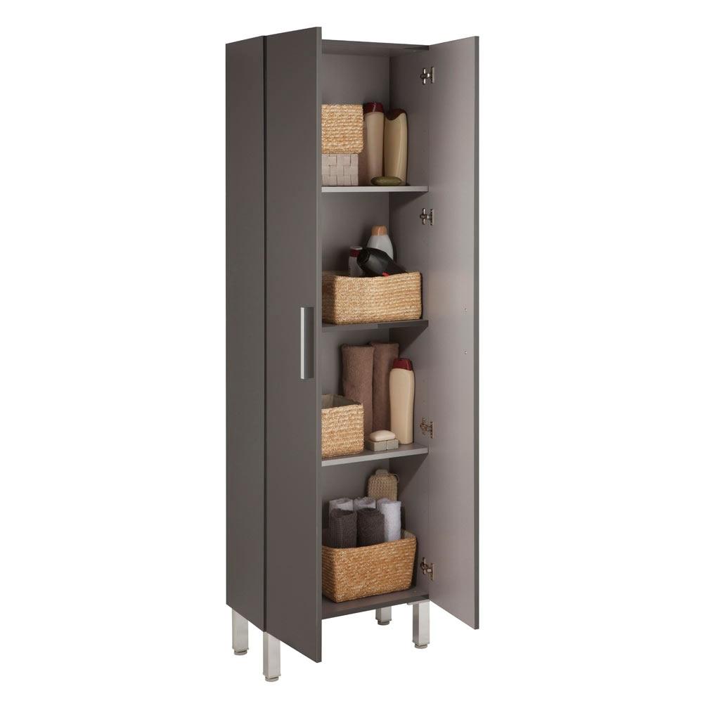 Mueble auxiliar de ba o serie madrid columna ref 17982251 for Mueble columna bano