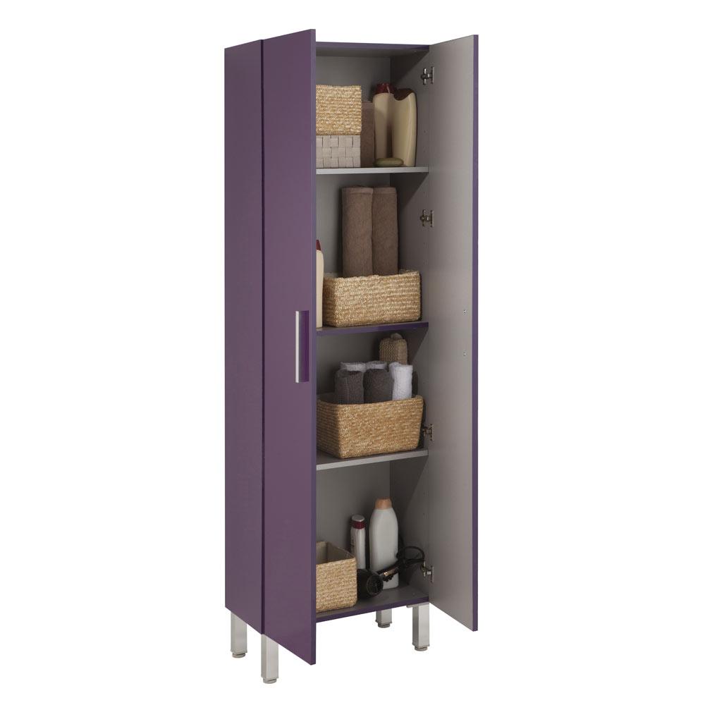 Mueble auxiliar de ba o serie madrid columna ref 17982272 for Mueble columna bano