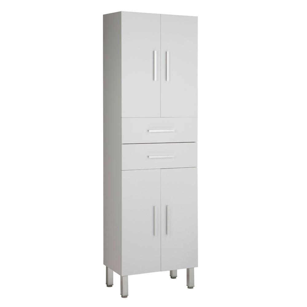 Mueble auxiliar de ba o serie madrid columna ref 17983791 for Mueble columna bano