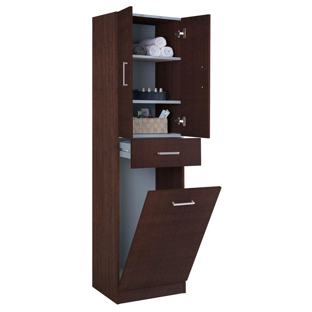 Mueble auxiliar de ba o serie motril columna cesto ref for Columnas de bano leroy merlin