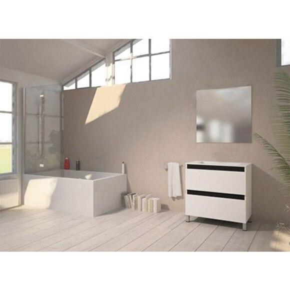 Conjunto de mueble de ba o altamira 80 blanco ref for Altamira muebles