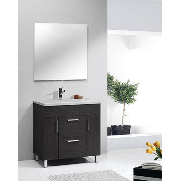 Conjunto de mueble de baño SAN MARCOS 100 NEGRO Ref. 81926438 ...