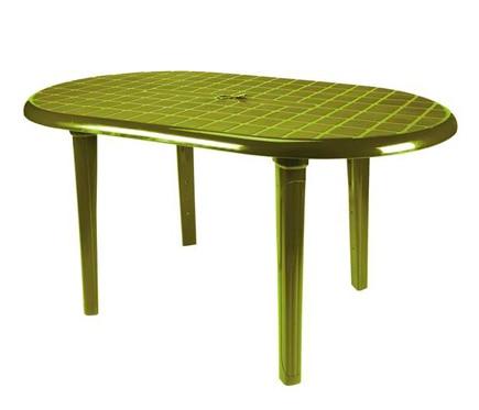 Mesa de resina ovalada 140 cm verde ref 17047730 - Mesa resina leroy merlin ...