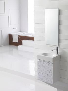 Conjunto de mueble de ba o ice 40 blanco ref 17447605 for Muebles de bano 70 x 40