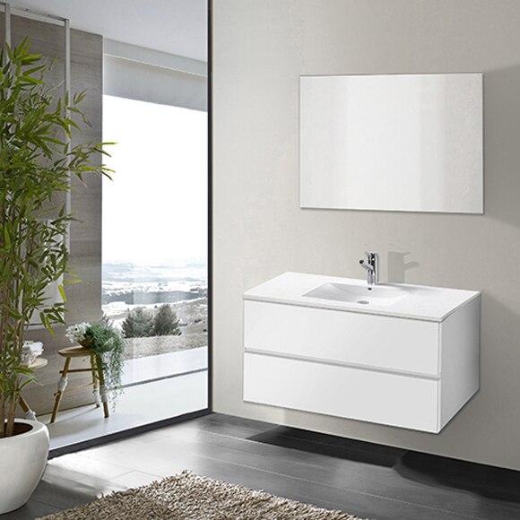 - Conjunto de mueble de baño DETROIT 90CM Ref. 19230435 ...