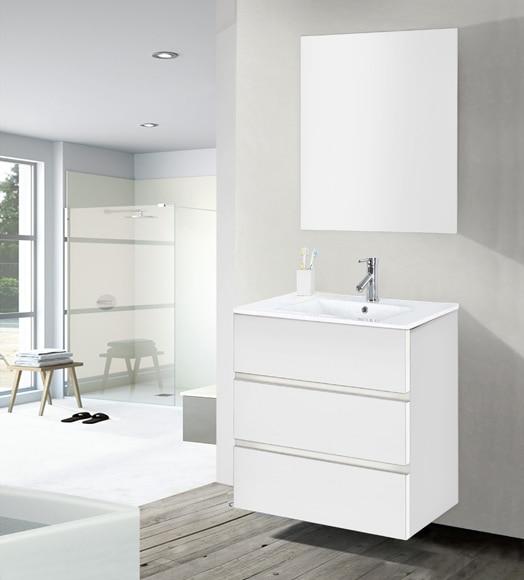 Conjunto de mueble de ba o memphis 60 blanco ref for Muebles de bano 60 x 45