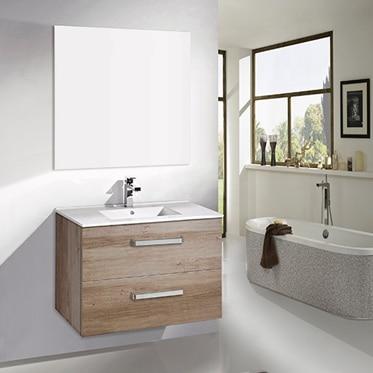 Conjunto de mueble de ba o quebec 60 roble claro ref for Muebles de bano 60 x 45