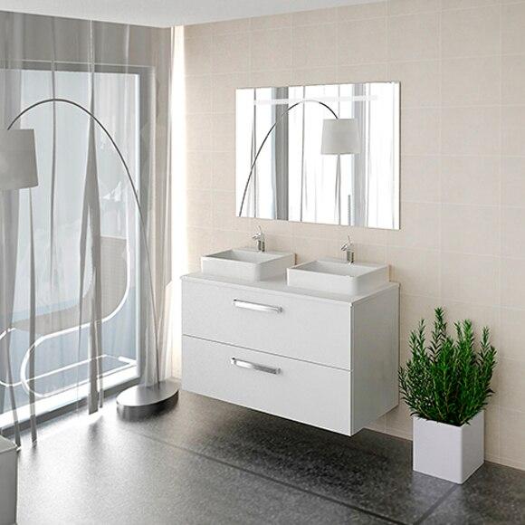 - Conjunto de mueble de baño TBILISI 120 BLANCO Ref ...