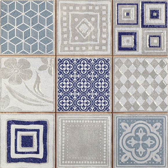 Mosaico de 24 x 24 cm decorado ref 19152791 leroy merlin - Mosaico leroy merlin ...