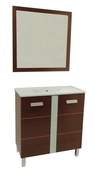 Muebles Baño Color Wengue:Conjunto de mueble de baño SIENA 70 WENGUÉ Ref 16832606 – Leroy