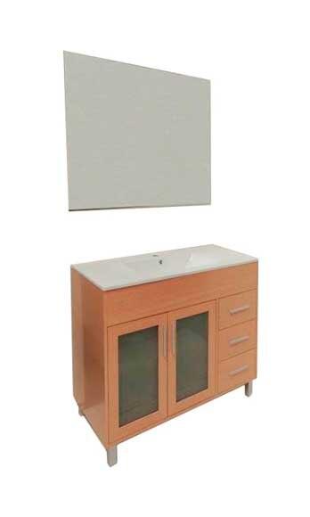 Conjunto de mueble de ba o ma 100 roble ref 16970240 for Mueble 25 cm ancho