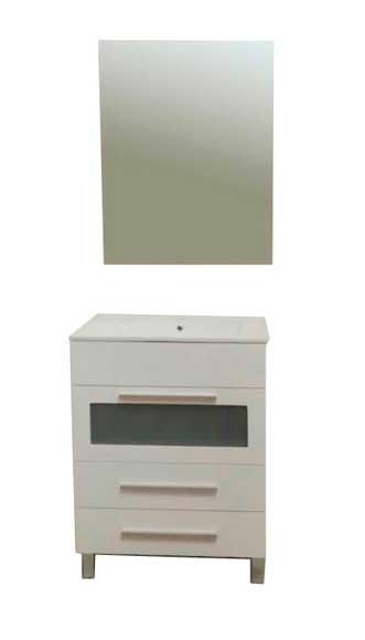 Conjunto de mueble de bano 60 cm blanco balear ref for Mueble 25 cm ancho