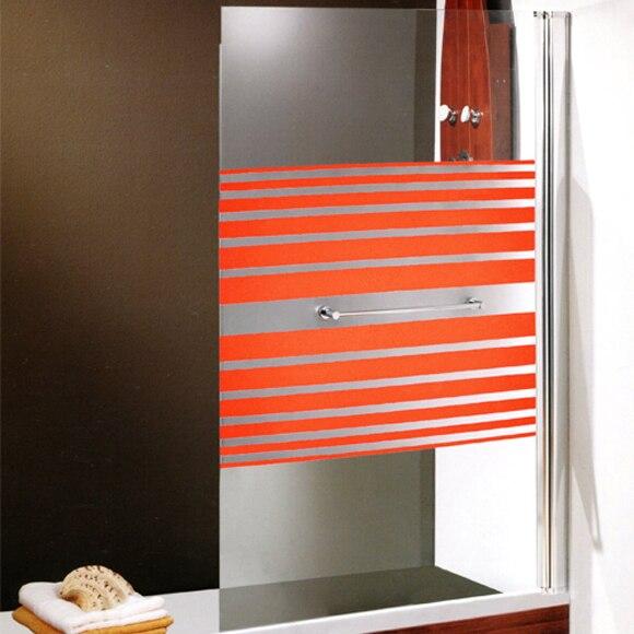 Mampara de ba era montecarlo 147x84 naranja ref for Mampara banera leroy