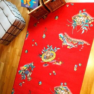 Alfombra infantil happy rojo 100x165 ref 19588786 - Leroy merlin alfombra infantil ...