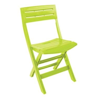 Silla verde pistacho redondo ref 17101301 leroy merlin - Silla plegable leroy merlin ...