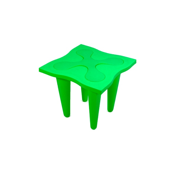 Mesa auxiliar flor verde ref 17124520 leroy merlin for Mesas auxiliares leroy merlin