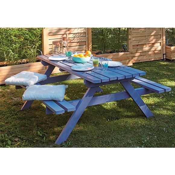 Mesa de picnic molene ref 81947997 leroy merlin for Mesa picnic madera leroy merlin