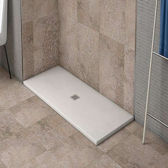 Plato de ducha resina blanco 160x70 ref 81908210 - Leroy merlin platos de ducha ...