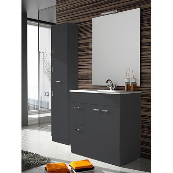 Mueble de ba o motion 2p 2c 100cm gris ref 81867451 - Muebles de bano grandes ...