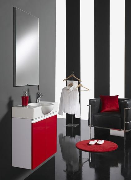 Conjunto de mueble de ba o venecia 60 rojo ref 17447542 leroy merlin - Muebles de bano rojos ...
